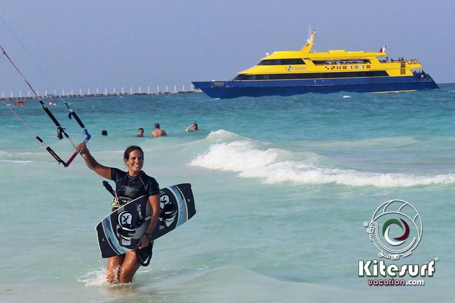 Kitesufing Playa Del Carmen Yucatan Peninsula Quintana Roo Mexico