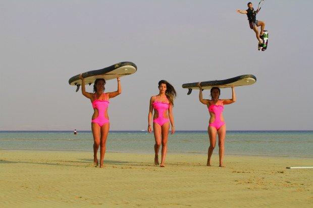 ''Kitesurfing in Ras Sudr Bay ''