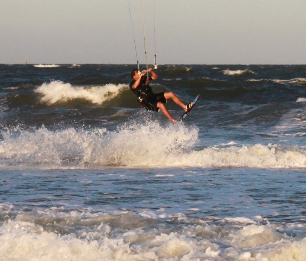 """""""Kitesurfing at Tybee Island"""""""