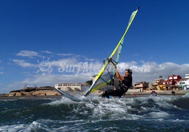 """Windsurfing at El Cabezo"""