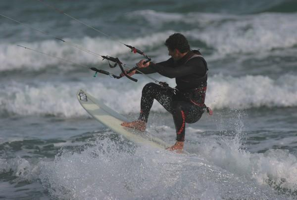 ''Kitesurfing in Pont des Basses''