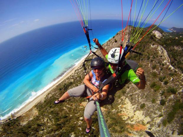 ''paragliding in Lefkada''