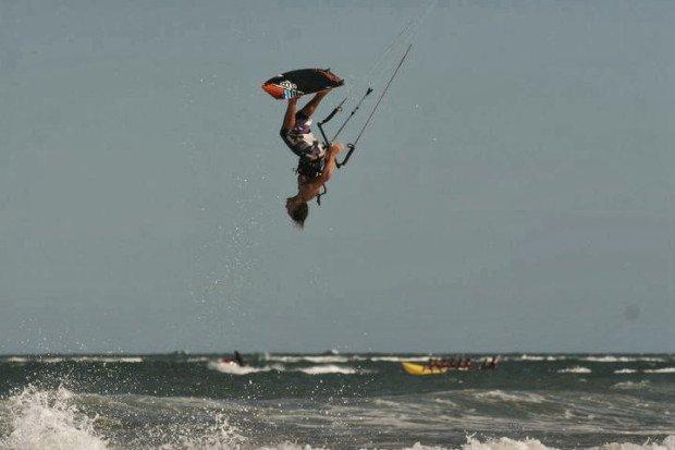 ''Kitesurfing in Vigo, Galicia''