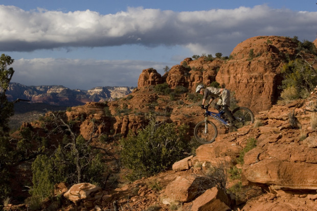 """Mountain Biking in Hiline Trail"""