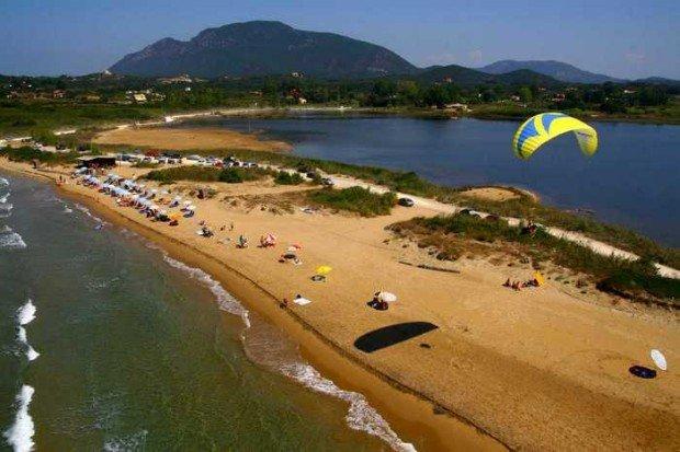 ''Paragliding in Corfu Island''