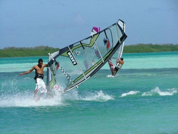 """""""Windsurfing at Sorobon Beach"""""""