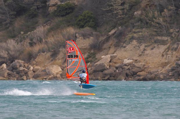 Windsurfing in Leucate Plage