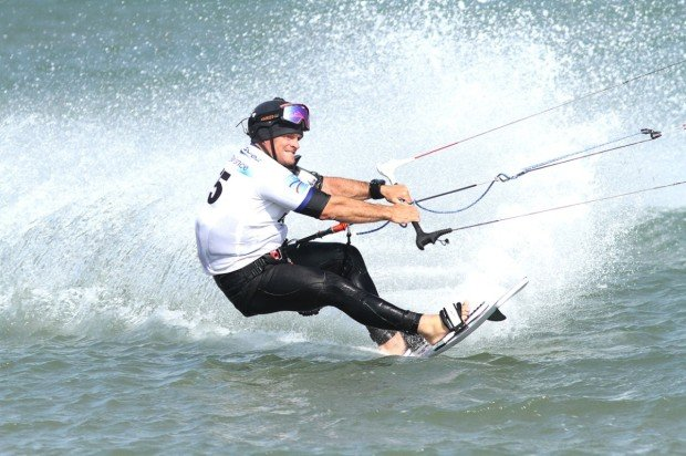 """""""Kiteboarding at Les Coussoules beach"""""""