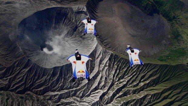 """Wingsuit Volcano"""