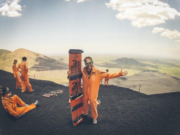 """volcano boarding"""